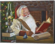 Santa Making A List Fine-Art Print
