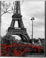 Eiffel Tower with Red Pop Fine-Art Print