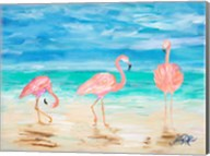 Flamingo Beach I Fine-Art Print