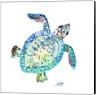 Sea Life In Blues I (turtle) Fine-Art Print
