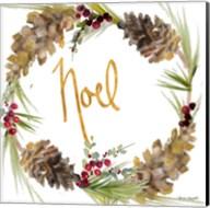 Gold Christmas Wreath III Fine-Art Print