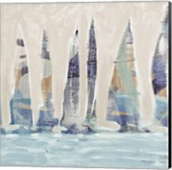 Muted Sail Boats Square II Fine-Art Print