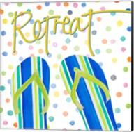 Flip Flop Retreat I Fine-Art Print