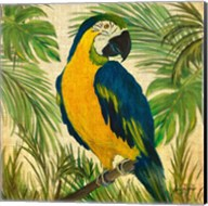 Island Birds Square on Burlap II Fine-Art Print