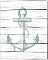 Anchor on Wood Fine-Art Print