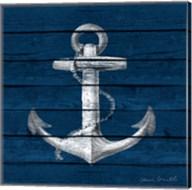 Anchor on Blue Wood Fine-Art Print