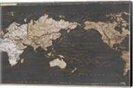 World Map in Gold and Gray Fine-Art Print