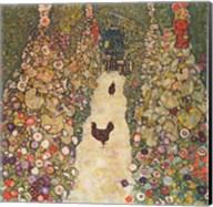 Garden Path with Chickens, 1916 Fine-Art Print
