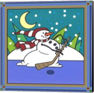 Coalman The Snowman Hockey 1 Fine-Art Print