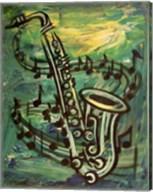 Blues Solo in Green Fine-Art Print