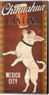 White Chihuahua on Red Fine-Art Print