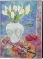 Violin With Flowers Fine-Art Print