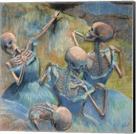 Blue Skelly Dancers Fine-Art Print