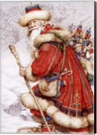 Father Christmas with Toys Fine-Art Print
