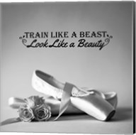 Train Like A Beast Grayscale Fine-Art Print