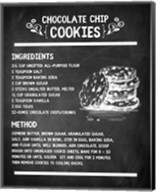 Chocolate Chip Cookies Recipe Chalkboard Background Fine-Art Print