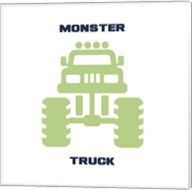 Monster Truck Graphic Green Part II Fine-Art Print