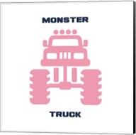 Monster Truck Graphic Pink Part II Fine-Art Print