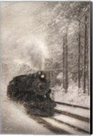 Snowy Locomotive Fine-Art Print