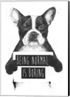 Being Normal Is Boring Fine-Art Print