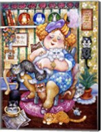 The Lady Who Loves Cats Fine-Art Print