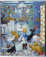 More Bathroom Pups Fine-Art Print