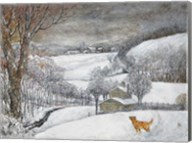 Daisy's First Snow Fine-Art Print