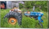 Blue Tractor Fine-Art Print