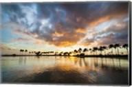 Rainbow Tower Pond Winter Sunset Fine-Art Print