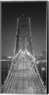 Oakland Bridge 3 BW Fine-Art Print