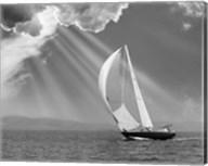 Sailing under sunbeams, L'Anse Bay, Michigan '13 Fine-Art Print