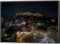 Greece Athens Acropolis Night 1 Fine-Art Print