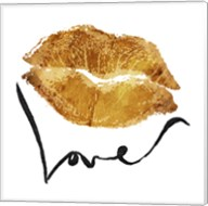 Love Lips Gold Fine-Art Print