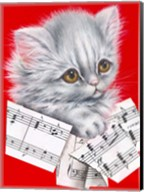 Music Cat - 12A Fine-Art Print