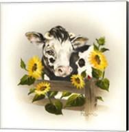 Cow & Sunflowers Fine-Art Print