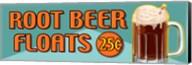 Root Beer Floats 25 Cents Oblong Fine-Art Print