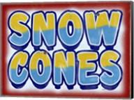 Snow Cones Distressed Fine-Art Print