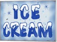 Ice Cream Distressed Fine-Art Print