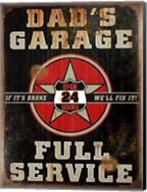 Dads Garage Vert Fine-Art Print