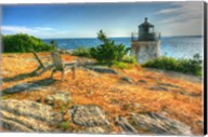 Adirondack Chairs And Lighthouse Fine-Art Print