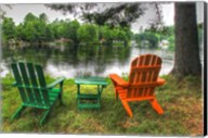 Lakeside Chairs Fine-Art Print