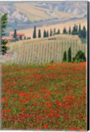 Tuscan Vertical Poppies Fine-Art Print