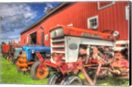Tractors and Barn Fine-Art Print