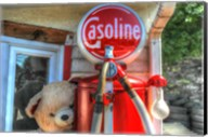 Old Gas Pump and Teddy Fine-Art Print