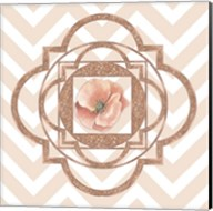 Persian Rose Gold Quatrefoil Fine-Art Print