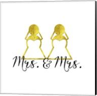 Wedding Couple - Mrs. Mrs. Fine-Art Print