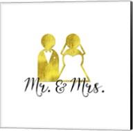 Wedding Couple Mr Mrs Fine-Art Print