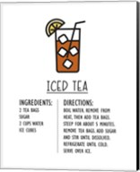 Iced Tea Recipe White Background Fine-Art Print