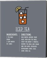 Iced Tea Recipe Gray Background Fine-Art Print