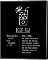Iced Tea Recipe Black Background Fine-Art Print